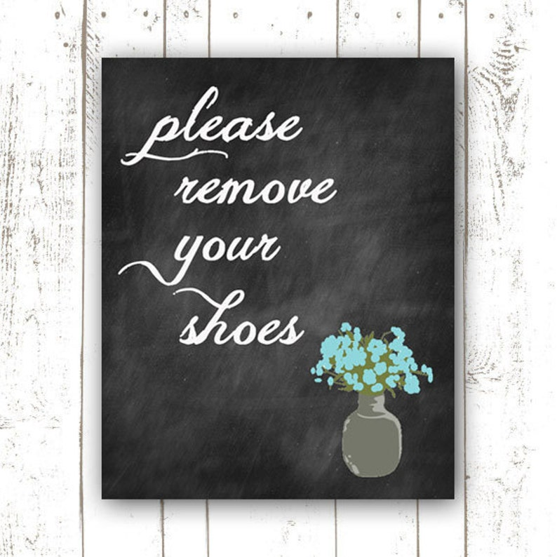 INSTANT DOWNLOAD  Please Remove Your Shoes  Remove Shoes image 0