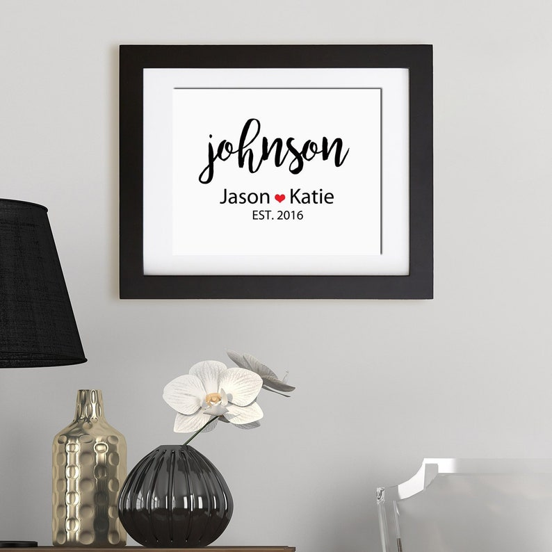 Printable Family Name Print  Wedding Print  Custom Sign  image 0