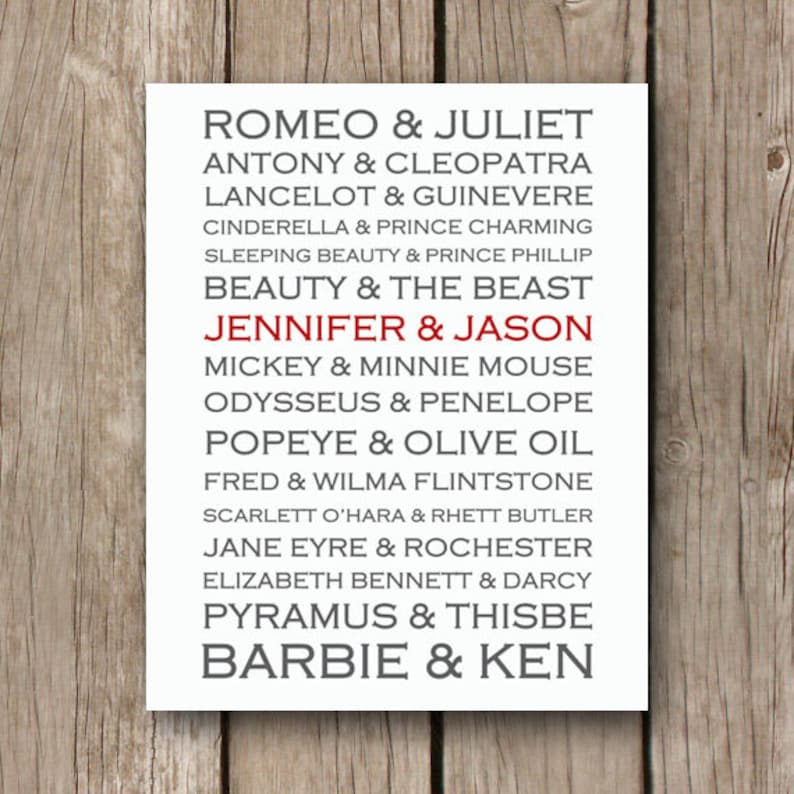 Unique Printable Wedding Gift  Personalized Couple Gift  image 0