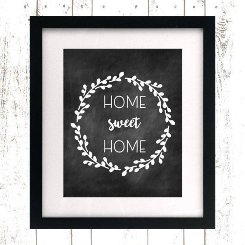 Home Sweet Home Printable  Instant Download  Rustic Home image 0
