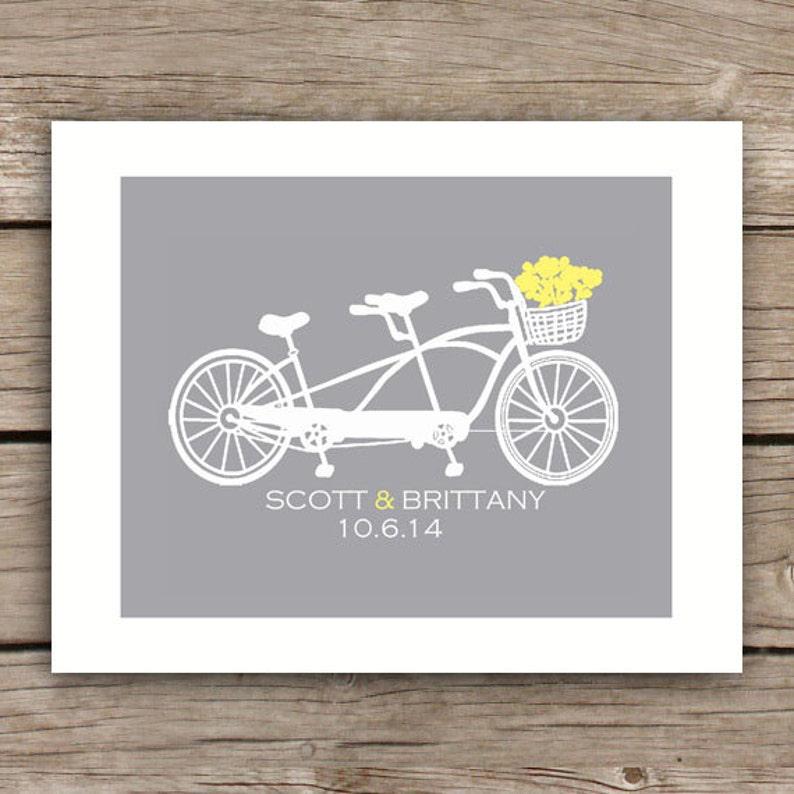 Printable Wedding Gift  Bicycle  Wedding Sign  Engagement image 0