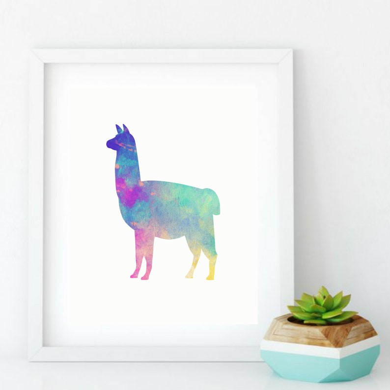 Llama & Sloth Package Prints  Sloth Picture  Llama Sign  image 0
