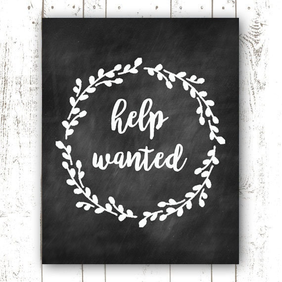 Help Wanted Printable Now Hiring Printable Help Wanted   Etsy