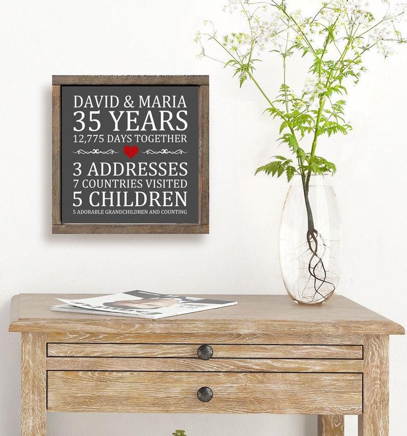 50th Anniversary  Printable Family Name Print  Wedding image 0