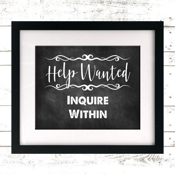 graphic regarding Printable Help Wanted Sign titled Assistance Wished-for Printable Indication - Assist Sought after Signal - Assist Preferred Print - Aid Required - Need to have Assistance - Task Opening - Question Inside -Prompt Down load