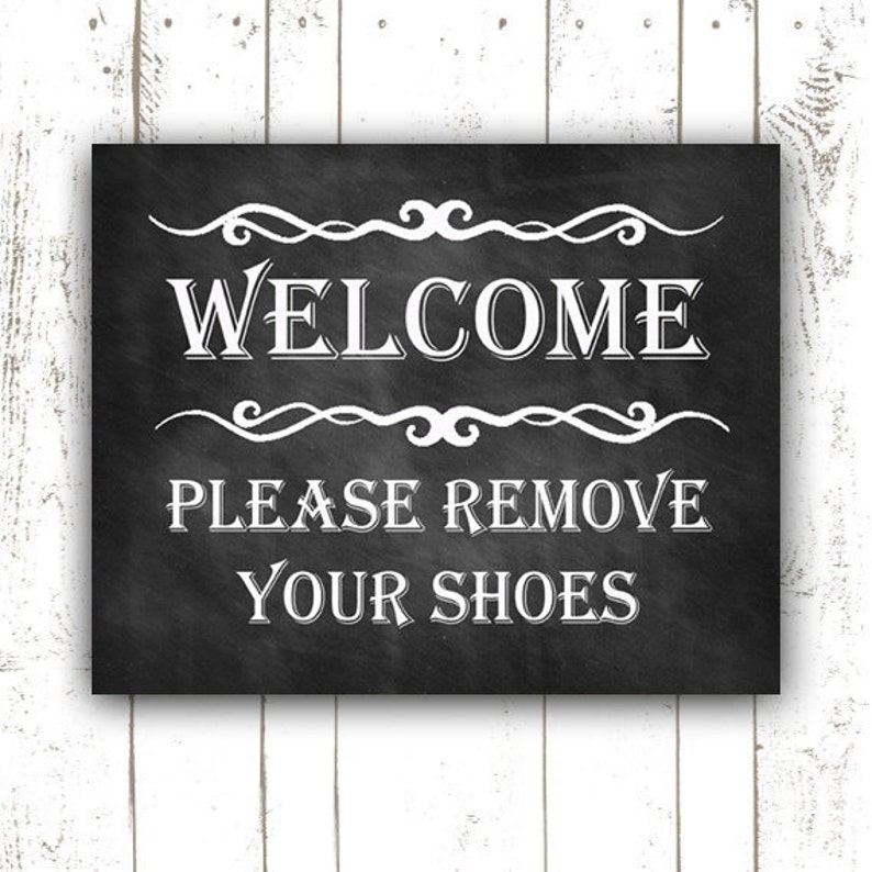 graphic about Please Remove Your Shoes Sign Printable known as Welcome Signal - Be sure to Take out Your Footwear Print - Take out Sneakers Indicator - Printable - Fast Obtain - Footwear Off - Just take Off Sneakers - Shed Sneakers