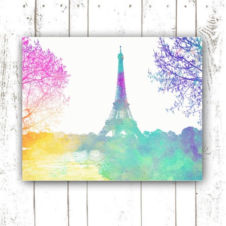 Paris Print  Paris France  Eiffel Tower  Paris Printable  image 0