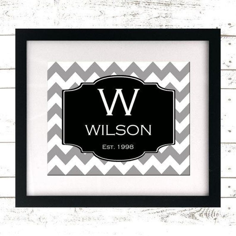 Printable Sign  Family Name  Wedding Sign  Personalized image 0