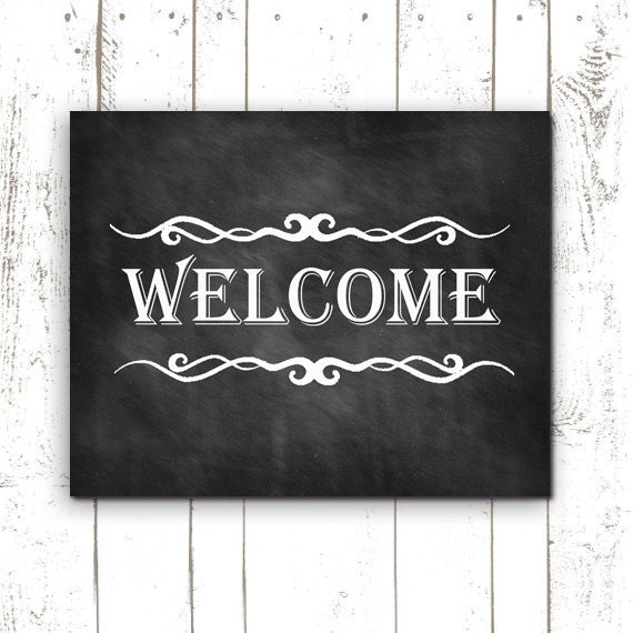 Exhilarating image intended for welcome sign printable