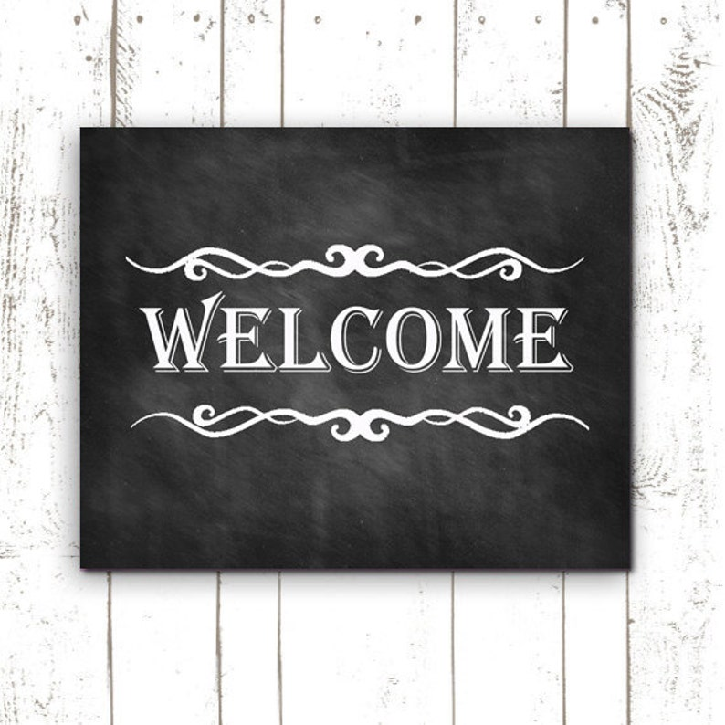 It is a graphic of Sizzling Free Printable Welcome Sign