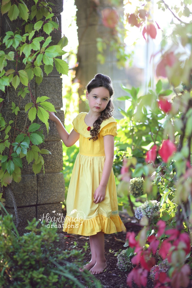 Beauty and the Beast Character Inspired Dress Sizes 12 through 8 Belle Simple Version