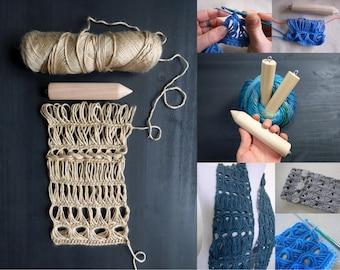 Crochet eBook: Complete Broomstick Lace Bundle - 3 Broomstick Lace Tutorials + 3 Broomstick Lace Patterns