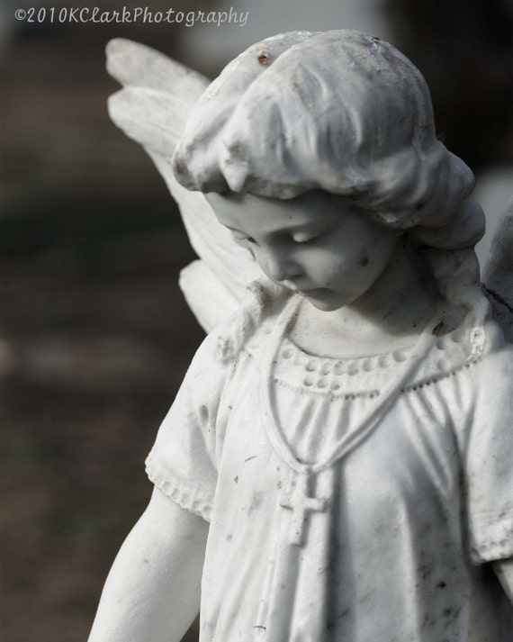 Hijo de Angel de piedra 8 x 10 foto 11 x 14 estatua estera