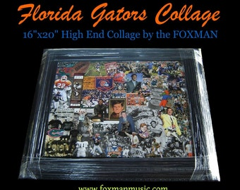 "16"" x 20"" Gators Collage (original artwork by Foxman)"