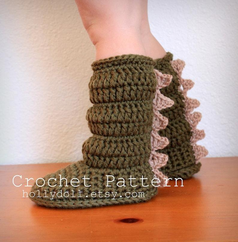09cdd16fd7d44 Crochet Pattern, Toddler Slipper Boots, Boys and Girls, US Toddler Sizes  4-9, Digital Download