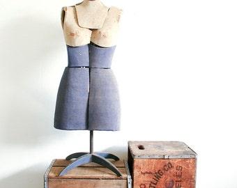 Vintage Adjustable Dress Form / Industrial Decor
