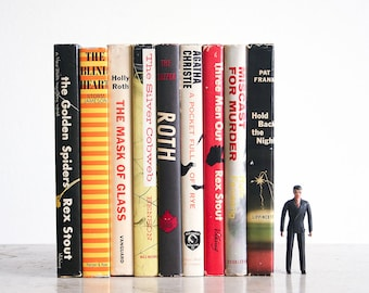 9 Mid Century Mystery Books / Instant Collection / 1950's Suspense Novels / MCM Library