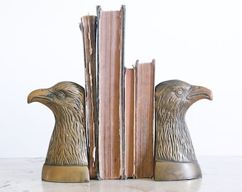 Vintage American Eagle Brass Bookends