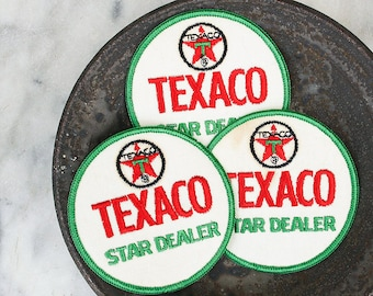 Vintage Texaco Uniform Patch / 1970's Jacket Patch / Texaco Star Dealer