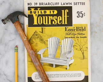 DIY Build it Yourself Lawn Furniture Pattern / 1950's Easi-bild / Mid Century Patio Furniture Guide