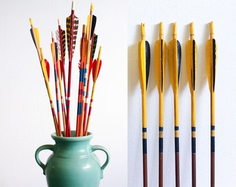 8 Vintage Archery Arrows / Instant Collection / Mixed Lot / Summer Decorating