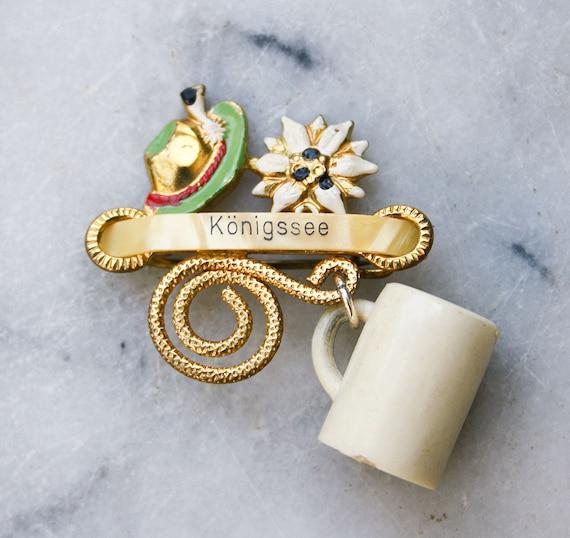 Vintage Oktoberfest Hat Pin / Beer Mug / 1950's Souvenir Brooch / Made in Germany