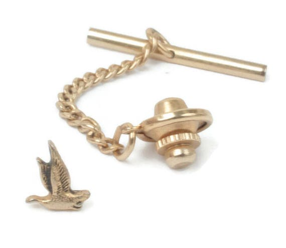 Duck Tie Tack Sportsman Hunter Theme Hickok Vintage Tie Tack Fathers Day Birthday