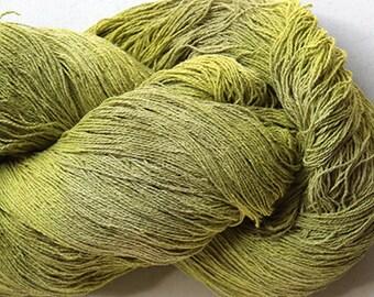 Stella, silk noil yarn, 1350 yds - Lime Tonal