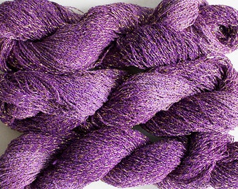 Sparkle,  fine cotton/metallic yarn, 300 yds - Grape Tonal