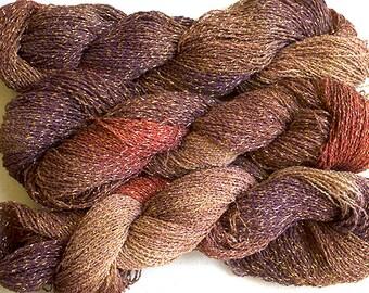 Sparkle,  fine cotton/metallic yarn, 300 yds - Pheasant