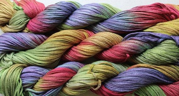 Hand dyed  104 yds Desert Junco Rayon Tape Ribbon