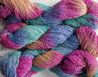 Sparkle,  fine cotton/metallic yarn, 300 yds - Aurora