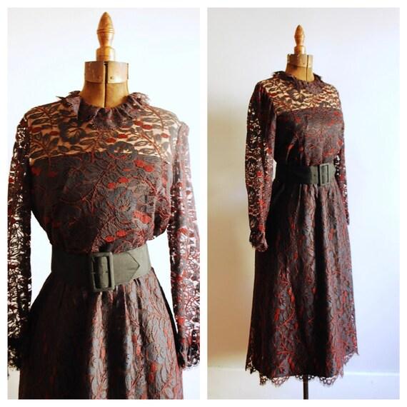 Vintage Nat Kaplan Couture Lace Party Dress