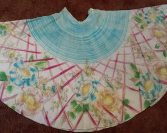 1950s Hand Painted ArteGreen Mexican Circle Skirt