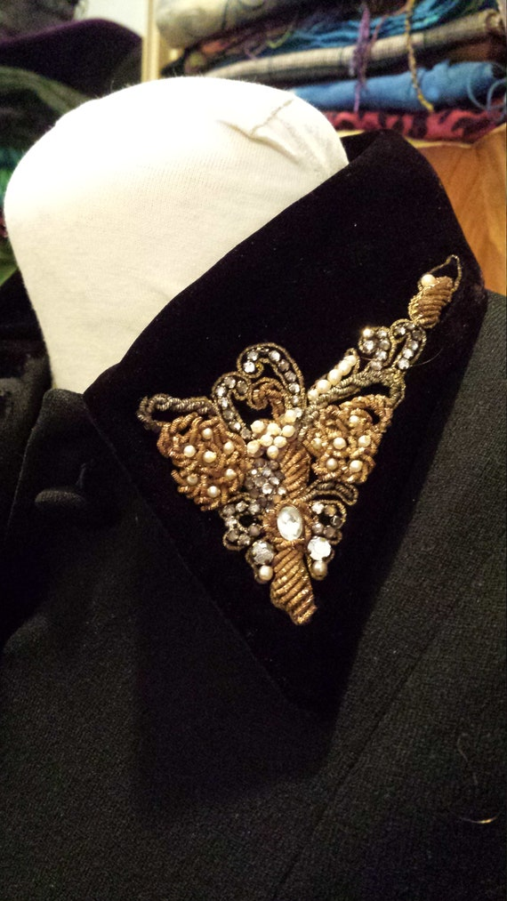 40's Tailored Wool Suit Jacket, Sz. S, Beaded  Ve… - image 3