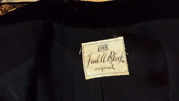 40's Tailored Wool Suit Jacket, Sz. S, Beaded  Ve… - image 8