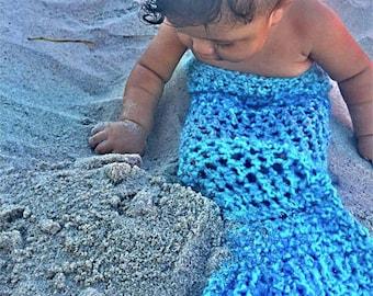 Mermaid Snuggly crocheted mermaid tail.  Great as photo prop!