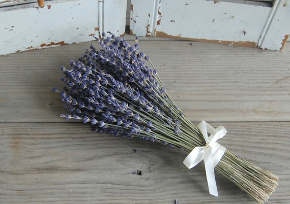 TWO Dried Lavender Bridesmaid Bouquets / Wedding Bouquets / | Etsy