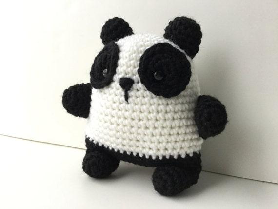Gift For Kids Panda Bear Plush Toy Amigurumi Crochet Kawaii Etsy