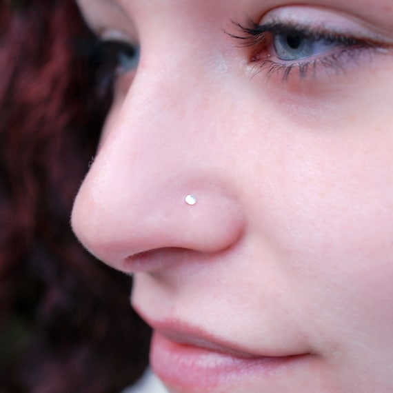 Flat Barely There Flush Flat To The Nose Stud Teeny Tiny Etsy