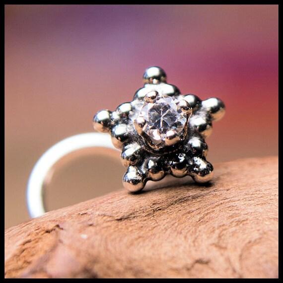 Star Nose Stud Diamond Nose Ring Nickel Free Jewelry Etsy