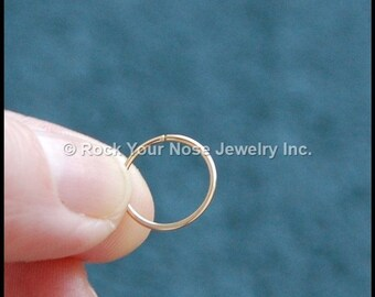 Gold Filled Nose Ring/Dainty Nose Ring /Thin Gold Nose Ring/24G/22G/20G/18G/Dainty Nose Hoop/ - CUSTOMIZE