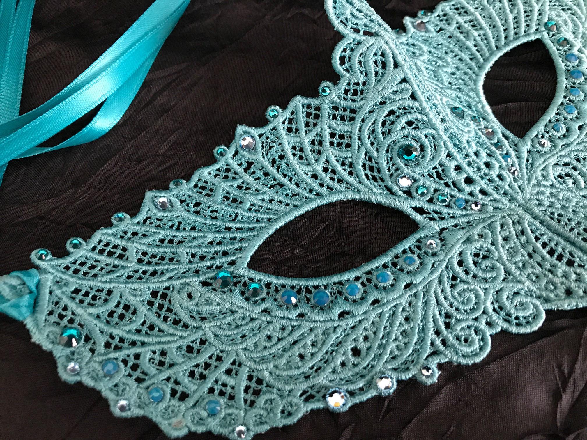 Turquoise Teal Aquamarine Halloween Masquerade Ball Fairy