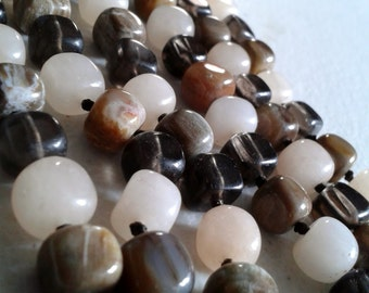 Vintage Necklace - Agate and Quartz Necklace