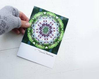 Photographic Mandala Card - Joyous - Blank Card