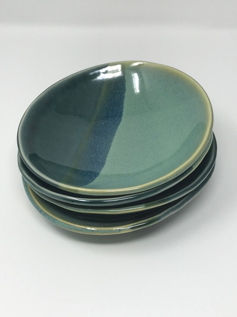Ceramic Bowl Set Pottery Bowls Set of 4 Ice Cream Bowls image 0