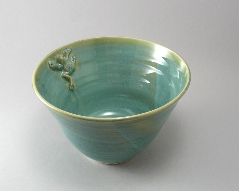 Serving Bowl-Frog-Pottery Bowl-Ceramic image 0
