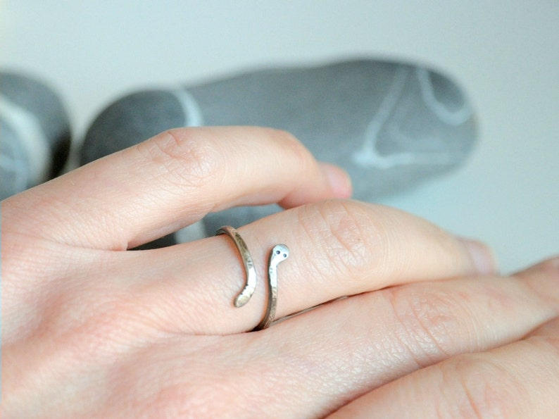 Snake Sterling Silver Ring Made To Order Slightly Oxidized