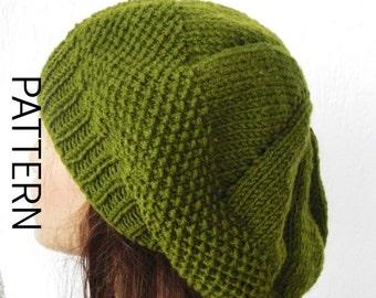 Knit hat pattern for Women PDF Women Knit hat pattern Digital Hat Knitting  PATTERN French Beret Pattern Downloadable Fashion winter knitting 3e1e592b458