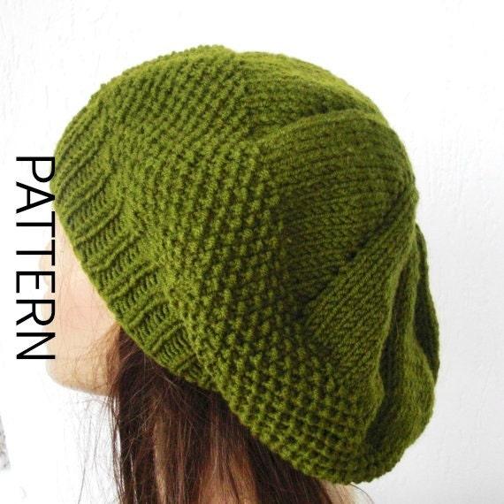 Knit hat pattern for Women PDF Women Knit hat pattern Digital  1b9408aea37